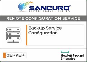 Backup Service Configuration For HPE Server