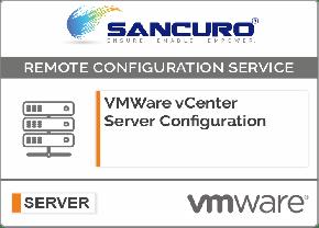 VMWare vCenter Server Configuration on Server