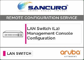 Aruba L2 LAN Switch Management Console Configuration