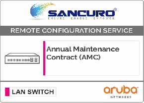 Annual Maintenance Contract (AMC) For Aruba L2 LAN Switch