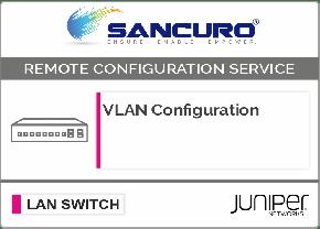 VLAN Configuration in JUNIPER L2 LAN Switch