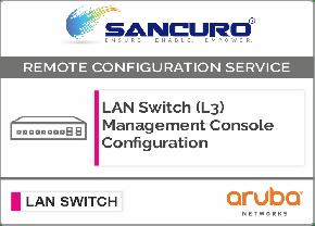 Aruba L3 LAN Switch Management Console Configuration