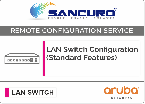 Aruba L3  LAN Switch Configuration (Standard Features)