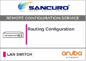 Routing Configuration in Aruba LAN Switch L3 For Model Series 2930M