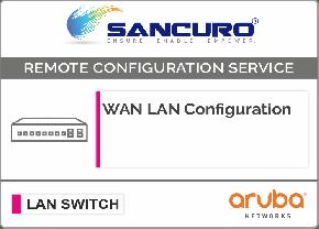 WAN LAN Configuration For Aruba LAN Switch L3