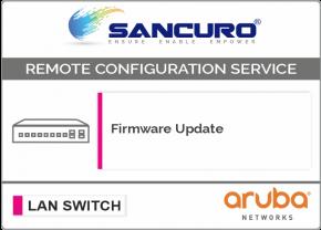 Firmware Update for Aruba L3 LAN Switch