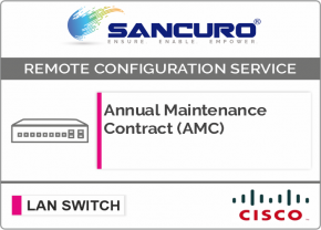 Annual Maintenance Contract (AMC) for CISCO L3 LAN Switch For Model Series 2960-L, C2960X, C2960XR, SF500, SG500