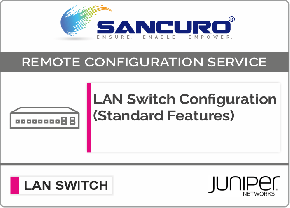 JUNIPER L3  LAN Switch Configuration (Standard Features)