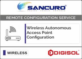 Digisol Autonomous Wireless Access Point Configuration