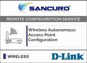 D-Link Autonomous Wireless Access Point Configuration