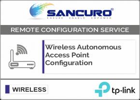 TP-Link Autonomous Wireless Access Point Configuration
