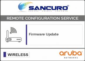 Firmware Update for Aruba Wireless Controller