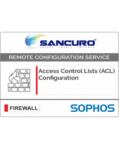 Access Control Lists (ACL) Configuration for SOPHOS Firewall For Model Series XG80, XG100